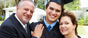 Picture of family with high school graduate
